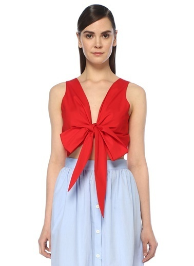 Mds Stripes Bluz Kırmızı